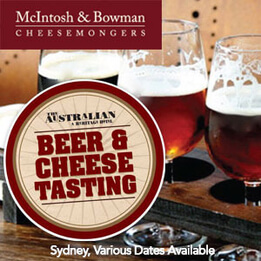 Boutique Beers & Artisan Cheese Tasting