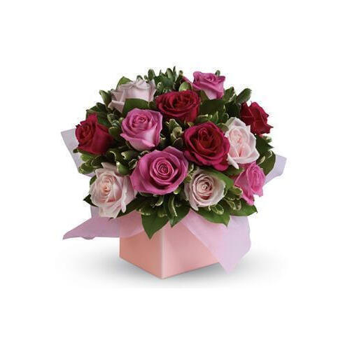 Blushing Roses Floral Arrangement