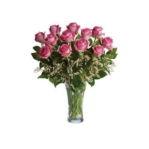 Perfect Pink Dozen Arrangement