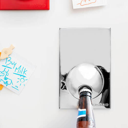 Stainless Steel Bottle Opener Fridge Magnet