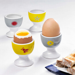 'Rise & Shine' Egg Cups, Set of 4