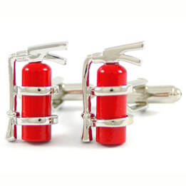 Fire Extinguisher Cufflinks