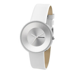 Cielo White Leather Watch