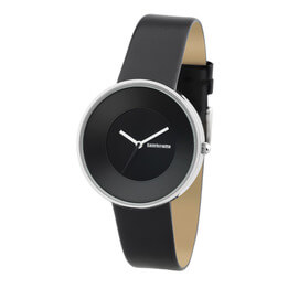 Cielo Black Leather Watch