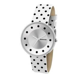 Cielo White with Dots Leather Watch