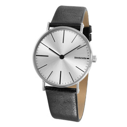 The Cesare Concept Silver Leather Watch