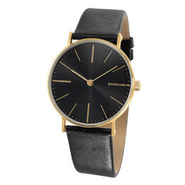 The Cesare Concept Black Leather Watch