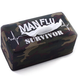 Man Flu Survivor Tissue Box Cover