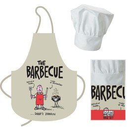 Apron and Chef's Hat - Barbeque, Dad's Domain