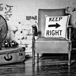 Keep Right Cushion
