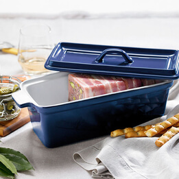 French Blue Terrine with Lid