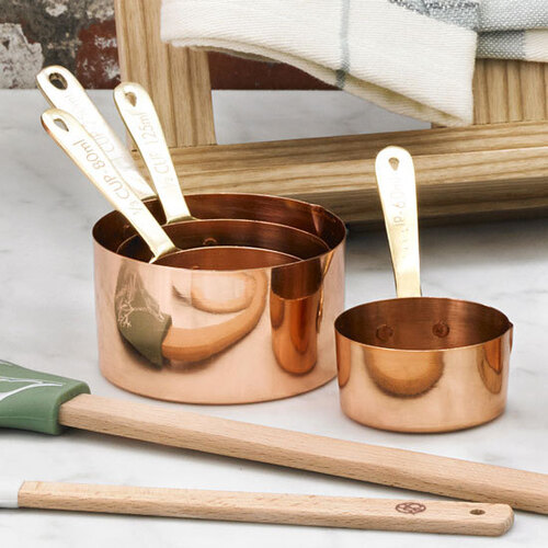 Academy Copper Plated Measuring Cups