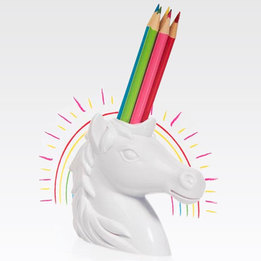 Unicorn Pencil Holder (w/Pencils)
