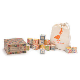 Uncle Goose ABC Wooden Blocks & Canvas Bag