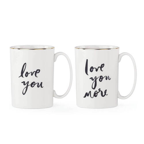 Kate Spade Love You Mug Set