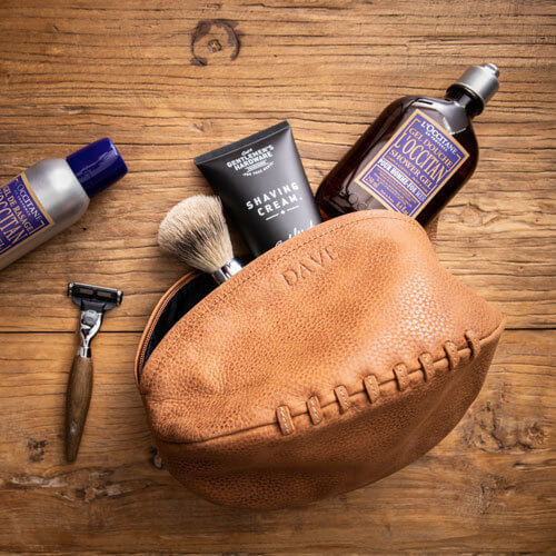 Men's Cambridge Leather Footy Wash Bag