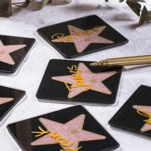 Hollywood Star Name Coasters