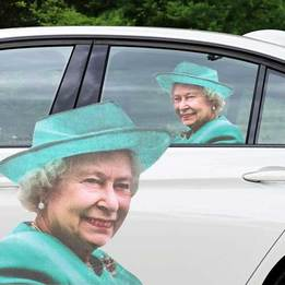 The Queen Window Sticker