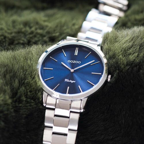 Vintage Blue on Silver Watch By OOZOO