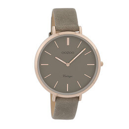 OOZOO Rose Gold on Taupe Watch