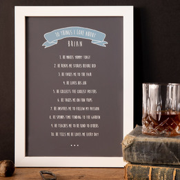 10 Things I Love About Custom Framed Print