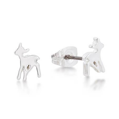 Disney Junior Bambi White Gold Stud Earrings