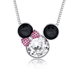 Disney Minnie Mouse Bow Crystal Necklace
