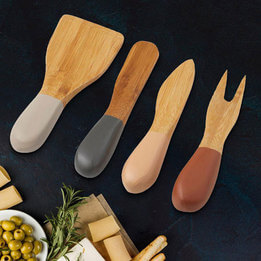 Davis & Waddell Sandstorm Bamboo Cheese Knife Set