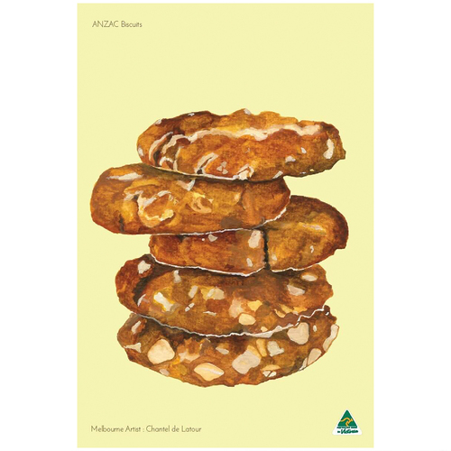ANZAC Biscuits Tea Towel