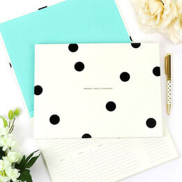 Kate Spade Deco Dot Meal Planner