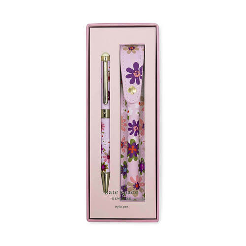 Pacific Petals Stylus Pen & Pouch By Kate Spade