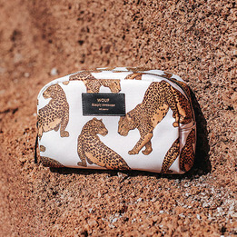 Wouf Big Beauty Leopard Make up Bag