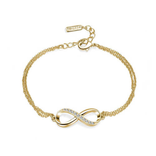 Gold Infinitely Yours Bracelet with Crystals From Swarovski®