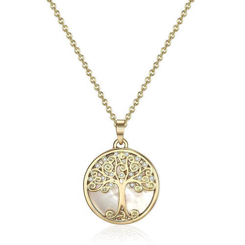 Gold Willow Tree of Life Necklace Crystals From Swarovski®