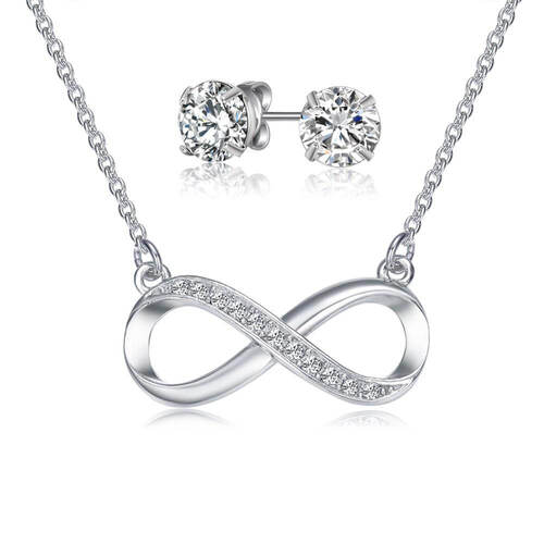 Infinity Jewellery Set with Crystals From Swarovski®