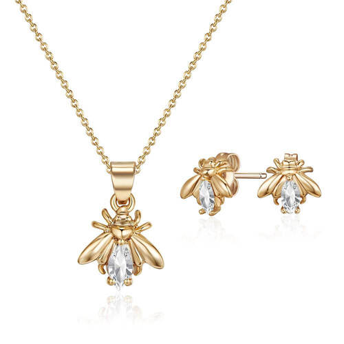Golden Firefly Set with Swarovski® Crystals
