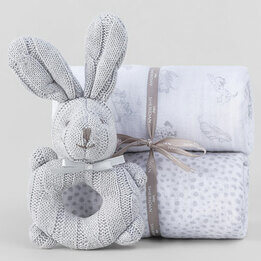 Sheridan Alodie Grey Baby Wrap Set