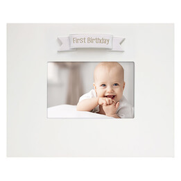 My First Birthday Signature Frame