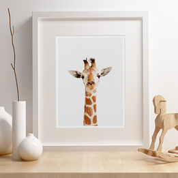 Baby Giraffe Little Darling Framed Print