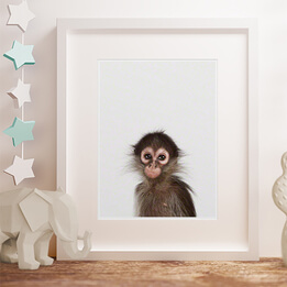 Baby Monkey Little Darling Framed Print