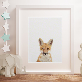 Baby Fox Little Darling Framed Print