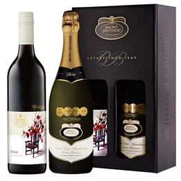 Red Wine & Sparkling Brown Brothers Gift Pack