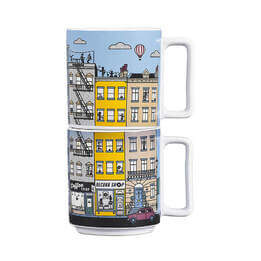 Heat Sensitive Stacking Mugs Set of 2