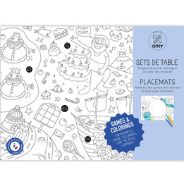 Games & Colouring Placemat Set
