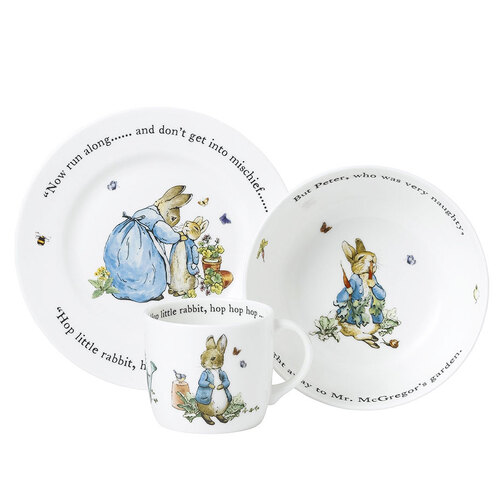 Blue 3-Piece Peter Rabbit Set by Wedgwood