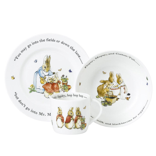 Pink 3-Piece Peter Rabbit Set by Wedgwood
