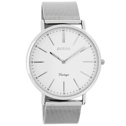 OOZOO Silver Mesh Watch