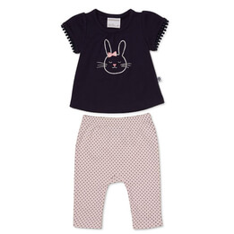 Marquise Bunny Top & Footless Pants Set