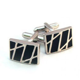 Black Contemporary Cufflinks