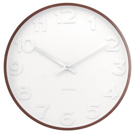 Mr White Wall Clock with Wood Case